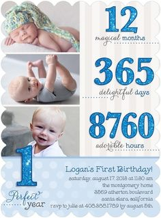 One Year Old Card Boy First Birthday Parties Birthdays 1st