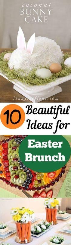 10 Beautiful Ideas for Easter Brunch, Food, table decor, dessert ideas for Easter Brunch by josefa