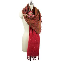 Metallic Embroidered Scarf Pink now featured on Fab.