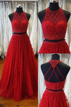 chic red prom dresses,2017 2 pieces prom dresses,sparkling prom dresses,fashion jewel 2 pieces dresses,2017 the latest party dresses,prom dresses 2017 ,vestidos