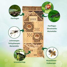 Gardigo Insektenhotel XXXL 1,20 m hoch, Nistkasten und Bruthilfe für Bienen, Schmetterlinge, Marienkäfer, Florfliegen etc.: Amazon.de: Garten
