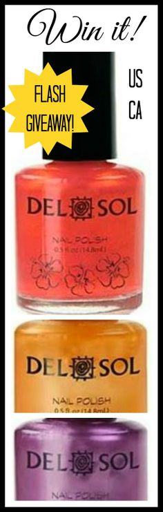 Style, Decor & More: DelSol Color Changing Nail Polish FLASH Giveaway! http://www.styledecordeals.com/2014/06/delsol-color-changing-nail-polish-flash.html