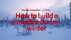 """This is """"How to build a campfire during winter"""" by Fjällräven on Vimeo, the home for high quality videos and the people who love them. Content Marketing, Neon Signs, Building, Winter, Outdoor, Inspiration, Winter Time, Outdoors, Biblical Inspiration"""