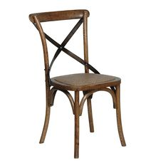 Houseology+Collection+Cross+Back+Oak+Dining+Chair+-+Traditional+oak+wood+dining+chair+with+steel+cross-back+detailing. Complete+your+dining+setting+with+the+traditional+bistro+styling+of+the+Houseology+Collection+Cross+Back+Oak+Dining+Chair. Influenced+by+Parisian+bistros,+this+beautiful+dining+chair+has+been+expertly+crafted+in+oak+and+varnished+with+a+dark+finish. Complete+with+a+rattan+seat+pad,+the+steel+cross+back+detailing+finishes+the+look. Combine+with+a+beautiful+oak+dining+tabl...