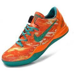 http://www.asneakers4u.com/ Nike Zoom Kobe VIII Elite Lifestyle Orange/Jade Sale Price: $67.90