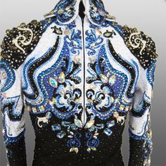 """""""Iris"""" jacket Custom Made....This would make such a lovely Rodeo Queen Top!"""