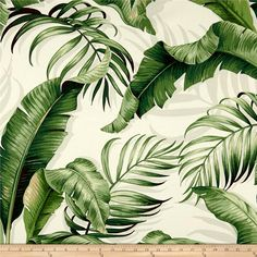 Tommy Bahama Indoor/Outdoor Palmiers Green Fabric per meter Outdoor Cushions, Outdoor Fabric, Indoor Outdoor, Chair Cushions, Vegetal Concept, Tropical Island, Tommy Bahama, Green Fabric, Panel Curtains