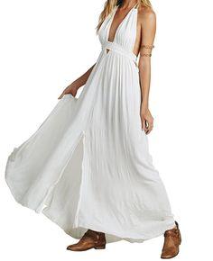 Latinaric Robe Boho Été Party Plage Maxi Robe Longue Femme: Amazon.fr: Vêtements et accessoires