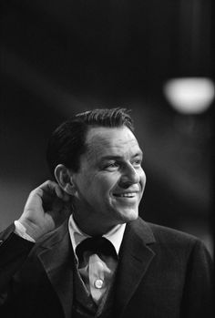 Frank Sinatra on the set of the movie, 1959.