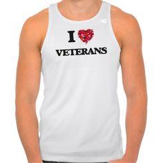 I love Veterans Tee Shirt Tank Tops
