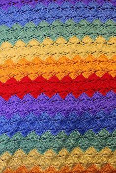 [Easy] [Free Pattern] Star Shell Crochet Afghan