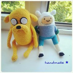 Время приключений!  #handmake #handmade #crochet #amigurumi #toy #adventuretime #jake #dog #fin #adult #yellow #funny #cute #gift #etsy #etsyfind #вязанаяигрушка #амигуруми #мультяшный #мультфильм #времяприключений #джейк #пес #фин #парнишка  #желтый #подарок #сувенир