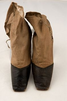 Lady's Two Tone Gaiter Boots, 1840s - Lot 311 $218.50