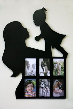 Lasercuts Ltd: Wooden Collage Frames Family Collage Frame, Love Collage, Collage Frames, Photo Collage Gift, Diy Wall Art, Metal Wall Art, Photo Frame Design, Metal Art Projects, Baby Frame