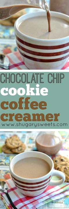 Love Chocolate Chip Cookies? Love Coffee? You're going to flip for this new creamer recipe!! Chocolate Chip Cookie Coffee Creamer, a great way to start your morning!