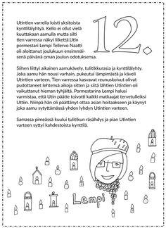 Joulukalenteri 2015 - Värinautit Ovet, Words, Christmas, Xmas, Navidad, Noel, Natal, Horse, Kerst