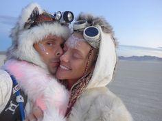 MUSE : Matt Bellamy and Elle Evans_September 2015 - Burning Man 2015, Black Rock Desert, Nevada