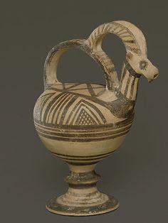 Terracotta trick vase Period: Cypro-Geometric I Date: ca. 1050–950 B.C. Culture: Cypriot