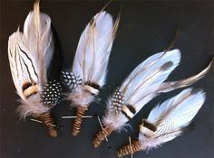 Grooms Cherokee Feather Buttonholes | Flowers By The Vase | madeit.com.au