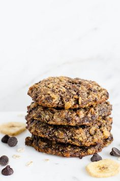 Chocolate Chip Banana Oat Cookies (Gluten Free) | cooking ala mel