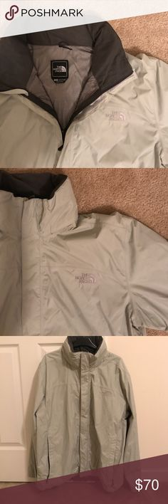 Men's North Face Windbreaker Jacket Light gray Men's North Face breathable Windbreaker Jacket with pockets and drawstring at the bottom NWOT (all menswear can be bundled, everything has to go so prices are negotiable!) North Face Jackets & Coats Lightweight & Shirt Jackets
