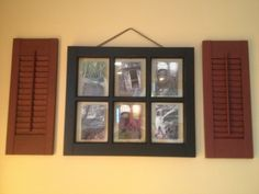 diy+primitive+picture+frames | My primitive window frame. I used old pictures from my family's farm.