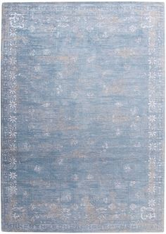 Vintage vloerkleed   wollen vloerkleed in blauw