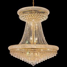Elegant Lighting 1802G36SG/EC 28 Light Primo Crystal Chandelier
