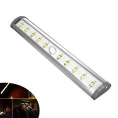10led infrared wardrobe projector pir motion sensor wall battery night light lamp for cabinet corridor basement