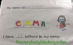 The Very Busy Kindergarten: September Ideas