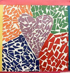 5th Grade Art Projects/Mosaic heart