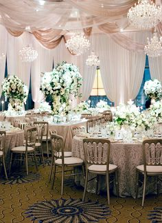 Glamorous garden wedding table decor: http://www.stylemepretty.com/2017/03/28/the-most-glamorous-garden-affair-in-the-middle-of-the-city/ Photography: Jose Villa - http://josevilla.com/