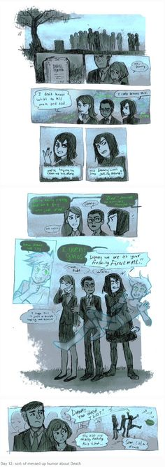 Danny's funeral by casepsart on tumblr--- Never could find this as a single comic strip. This makes me happy... um, and sad... at the same time. Not really sure what the correct emotional response to this is...