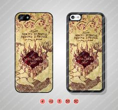 Marauders Map Harry Potter Phone Cases iPhone 5 Case by HalloCat, $6.99
