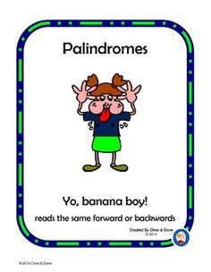 Printables Palindrome Riddles Worksheet share this list of palindromes with your kids ideas for small group or independent center activity use during guided reading featuring palindromes