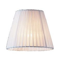 Renaissance Mini Shade In White Pleated Fabric by ELK
