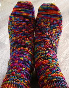 Mountain Colors Bearfoot Ravelry: Basket Check Socks pattern by Charlene Schurch and Beth Parrott