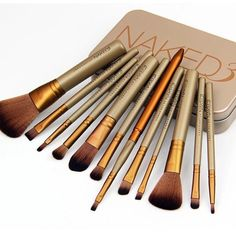 Urban Decay Naked 3 Brush Set Brand new never used! Comes with 12 different makeup brushes and tin, all original packaging Urban Decay Makeup Brushes & Tools