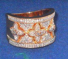 #ebay  http://www.ebay.com/itm/221697061520?ssPageName=STRK:MESELX:IT&_trksid=p3984.m1558.l2649  .50 carat Round White Diamond 14k Rose Gold Over Silver Ring Size 7 #Unbranded #Band