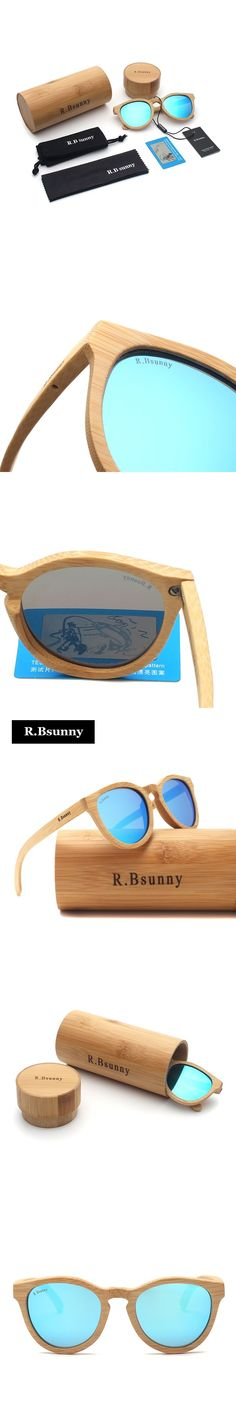 Environmentally friendly bamboo polarized sunglasses men Fashion classic color film Polaroid lenses Comfortable driving goggles