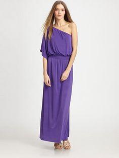 T-Bags One Shoulder Maxi Dress