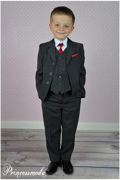 Nr.12 Sehr schöner FESTANZUG für den eleganten kleinen Mann! - Princessmoda - Alles für Taufe Kommunion und festliche Anlässe