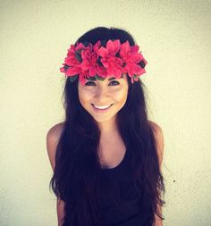 SALE PRICE--Flower Crown Headband, Coachella, Music festival, Rave accessory- Pink  Flowers on Etsy, $9.00