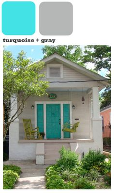 love the house and door color