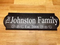 18x6 Last name sign by TheLittleSparkleShop on Etsy