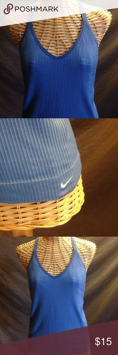Nike Activewear Tank Blue, soft ribbed fabric with built in chest support. Size large. Nike - just do it 👊 Nike Tops