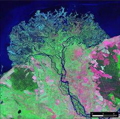 The Selenge River Delta landstat - Google Search