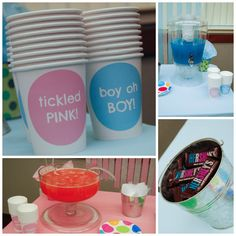 @Maria Canavello Mrasek Lindsay the sayings on the cup are too cute! Gender Reveal Party Pic