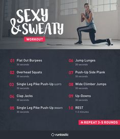 Hey ladies, here are the top 8 bodyweight exercises to help you get that bikini body. Plus, enjoy a bonus workout to get you sweaty and sexy for summer.