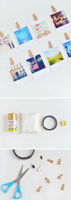 DIY pineapple magnets